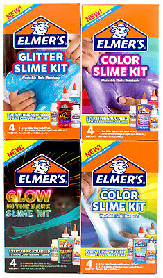 AU23.17 • Buy Elmers Glue Slime Kit Glow In The Dark Opaque Translucent Glitter Slime Kit 4pck