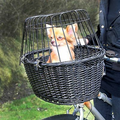 Dog Bicycle Basket Carrier Bike Small Travel Cat Puppy Pet Safety Bag Wire Mesh • 52.02£
