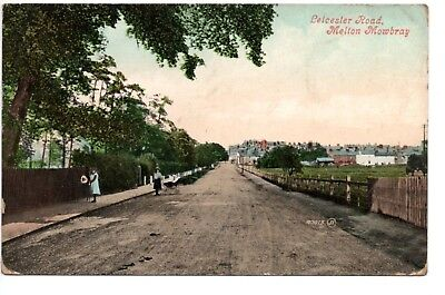 POSTCARD, Leicester Road, Melton Mowbray, Valentine's Series, 1908, A0415 • 8£