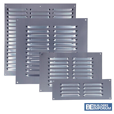 £2.49 • Buy Aluminium Louvre Air Vent / Air Grill Used For Ventilation 9x3, 9x6, 9x9 & 9x12