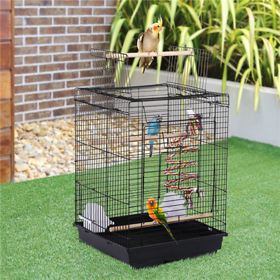 Small Bird Cage For Canary Cockatiel Budgie Parrot Travel Cage Open Play Top Toy • 32.59£