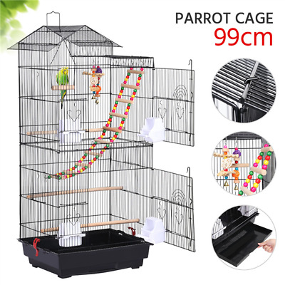 £45.99 • Buy Roof Top Small Parrot Bird Cage For Budgie Cockatiel Lovebird Canary W/Toys