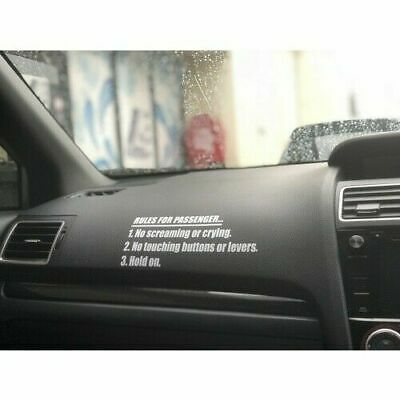 AU5.10 • Buy Rules For Passengers Decal Sticker JDM Funny Car Truck Race Rally Turbo 4x4