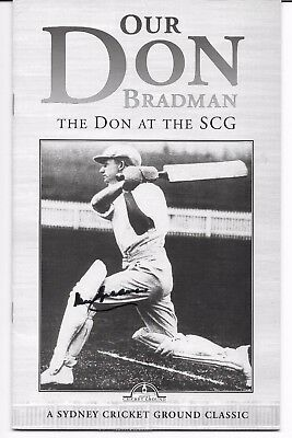 AU52.50 • Buy Don Bradman Hand Signed  Photocopied Book Cover ~ 'our Don Bradman'