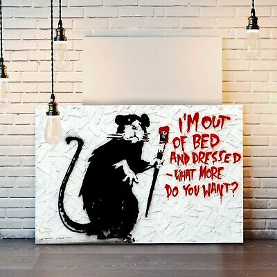 £12.99 • Buy Banksy Canvas Street Wall Art Print Artwork - I'm Out Of Bed