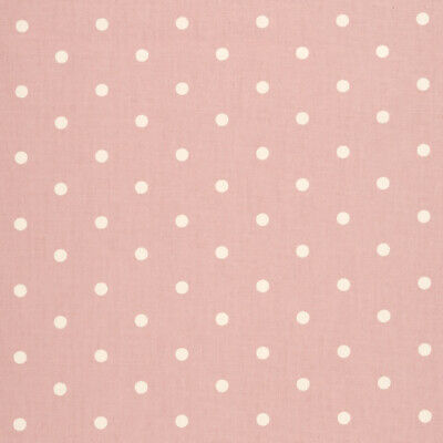 £9.99 • Buy Clarke And Clarke Dotty Rose Pink 100% Cotton Fabric