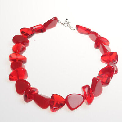 Jackie Brazil Flintstones Necklace In Red Mix N61 • 58.99£