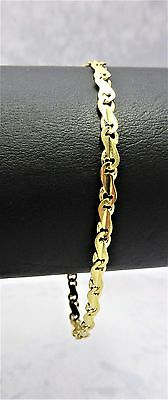 AU399 • Buy 9CT SOLID YELLOW  GOLD FINE QUALITY BRACELET 4.5gr-18.5cm