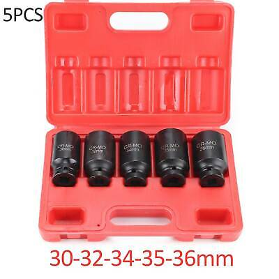 12 Point Axle Hub Nut Deep Impact Socket Set 1/2 Dr Thin Wall Drive Shaft Socket • 13.99£
