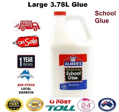 AU77.90 • Buy Elmers School Glue Bottle Strong LARGE 1 Gallon/3.78L Great For Making Slime