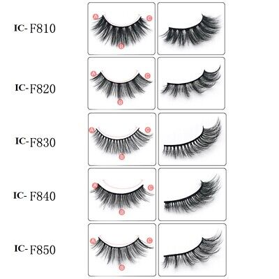 3D Mink False Eyelashes Wispy Long Thick Soft Lashes 5 Pairs Natural Make Up  • 3.98£