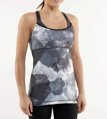$ CDN40 • Buy LULULEMON ATHLETICA Coal Gray Tinted CROSS MY HEART TANK Top Size 4 XSMALL