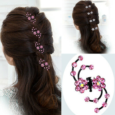 $ CDN4.12 • Buy 6PCS Women's Flower Hair Clips Barrette Pins Crystal Hairpin Wedding Accessories