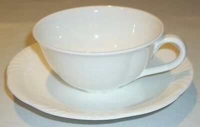 Villeroy & And Boch ARCO WEISS White Tea Cup And Saucer EXCELLENT • 24.99£