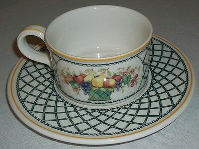 Villeroy & And Boch BASKET Tea Cup And Saucer EXCELLENT • 29.99£