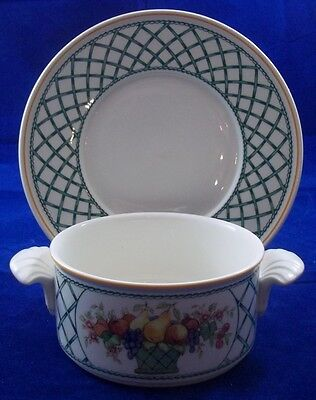 Villeroy & And Boch BASKET Cream Soup Bowl / Coupe And Saucer • 44.99£