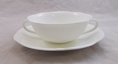 Villeroy & And Boch ARCO WEISS White Soup Coupe / Bowl And Saucer • 39.99£