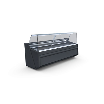 Pico 2.44 Deli Counter Cooling/ Serve Over Counter/ Square Glass Display Chiller • 2,150£
