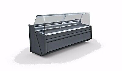 PICO 2,44 M DELI COUNTER FRIDGE SERVE OVER COUNTER/ SQUARE GLASS DISPLAY CHILLER • 1,890£