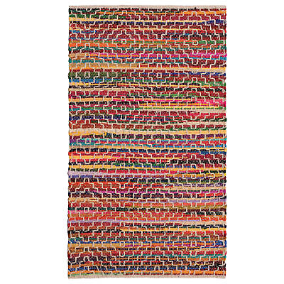 £15.99 • Buy Mandira Recycled Cotton Rag Rug With Stitch Detail