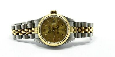 $ CDN4200.21 • Buy Rolex Stainless Steel 18K Gold Datejust Champagne Dial Watch, #69173