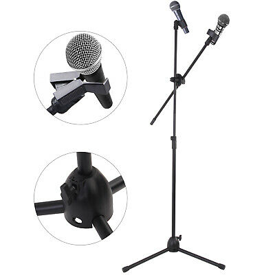 £12.59 • Buy Adjustable Microphone Stand Boom Arm Holder & Mic Clip Stage Studio Party Tripod