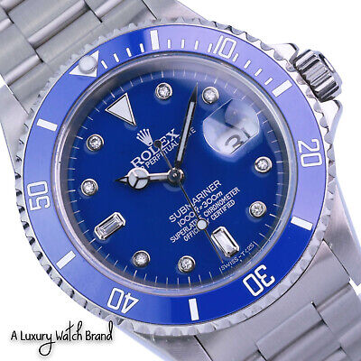 $ CDN11094.28 • Buy Rolex Submariner 16610  Stainless Steel Blue Ceramic Insert And Dial Watch