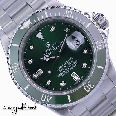 $ CDN11385.07 • Buy Rolex Submariner 16610  Stainless Steel Green Ceramic Insert And Dial Watch