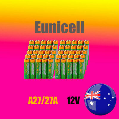 AU30.09 • Buy 50 X Eunicell 0%Hg 27A 12V MN27 L828 A27 Batteries Garage Remote Alarm