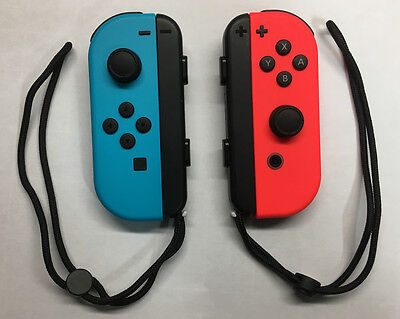$62.99 • Buy Genuine Nintendo Switch Joy-Con (L/R) Neon Blue (L) Neon Red (R) - Custom