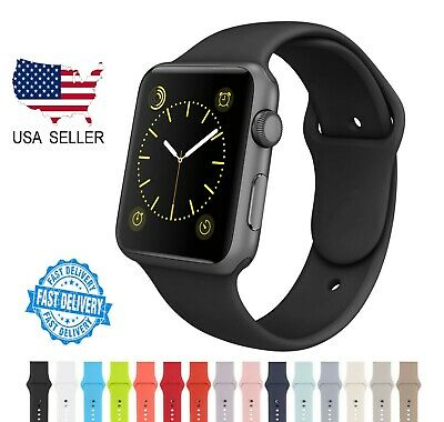 $ CDN4.59 • Buy Sport Band For Apple Watch USA Stock Soft Silicone Strap For Series 1/2/3/4