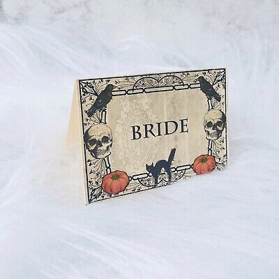 £3.50 • Buy Spooky Halloween Place Name Cards Party Wedding Set Of 10
