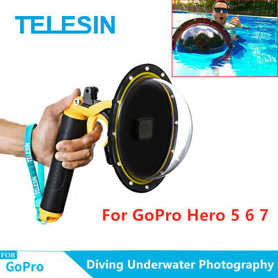 $ CDN50.71 • Buy TELESIN 6  Dome Port Waterproof Case For GoPro Hero 5 6 7 Underwater Photograph