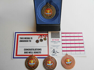 £2.99 • Buy 50mm Metal Medal In Presentation Box- Certificate/ Scratch Card = Sports Day