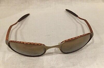cf7721dc0df Rare Vintage Oakley Wire Leather Wrapped Sunglasses