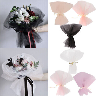 10pcs Tulle Florist Packing Supplies Bridal Wrapping Flower Bouquet Craft • 7.16£