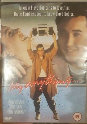 AU25 • Buy Say Anything... Rare Deleted Dvd John Cusack 1980s Comedy Cameron Crowe Film
