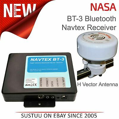 NASA Marine BT3 Bluetooth Navtex Recceiver With H Vector Antenna & 7m Cable|12v • 163.62£