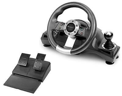 $139.73 • Buy Xbox One PS4 Steering Wheel Pedal Set Racing Gaming Simulator Driving PC PS3