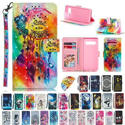 AU16.55 • Buy For Galaxy S20FE 5G Note 20 S9 S8 S10 Patterned Leather Wallet Stand Cover Case