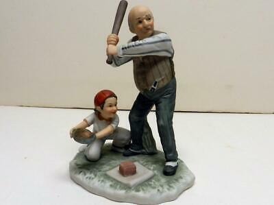 $ CDN31.46 • Buy Rare 1974 Gorham  Batter Up  Figurine Inspired By Norman Rockwell's Evening Post