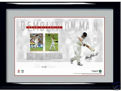 AU249.99 • Buy Adam Gilchrist Australia Demolition Man Signed Limited Print Bradman Warne Waugh