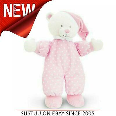 Keel Toys Baby Goodnight Bear|Baby Soft Toy|Kid's Bedtime Toy Cuddle|0m+|Pink • 9.89£