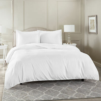 $ CDN37.97 • Buy Duvet Cover Set Soft Brushed Comforter Cover W/Pillow Sham, White - Queen