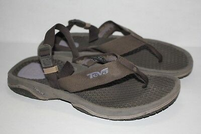 5518f2667 Womens TEVA Sport Hiking Sandals Size 8 Shoes Back Ankle Strap Flip Flop  Thongs • 12.43
