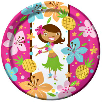 Luau Summer Party Plates 8 Pack 22cm Birthday Party Tableware Serveware New • 4.68£