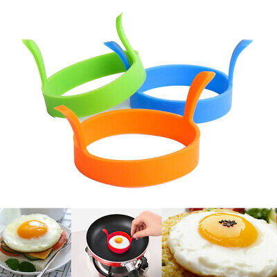 $0.99 • Buy Round Silicone Omelette Fry Egg Ring Pancake Poach Mold Kitchen Cooking Tool