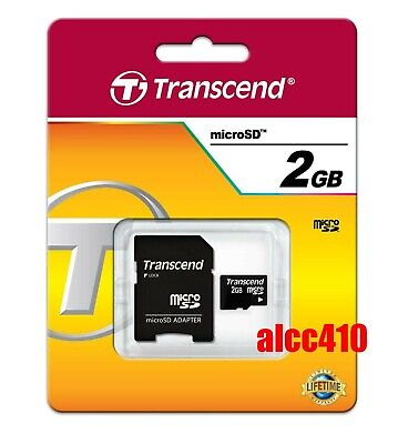 AU19.95 • Buy Transcend 2GB Micro SD Memory Card With SD Adapter TF MicroSD