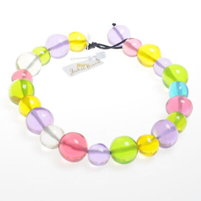 Jackie Brazil Resin 55cm Abstract Balls Necklace In Mix1 Summer N34 (5552) • 62.99£
