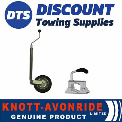 Genuine Knott 34 35mm Trailer Jockey Wheel & Clamp For Ifor Williams P5E P6E P7E • 39.95£